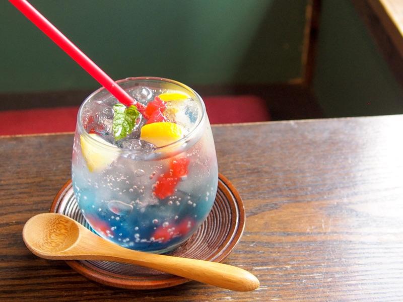 cafe太陽ノ塔 別館の金魚ゼリーソーダ